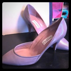 Casadei Italy gray heels shoes size 10